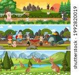 different nature landscape at... | Shutterstock .eps vector #1992820019