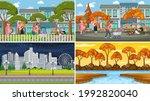 set of different nature scenes... | Shutterstock .eps vector #1992820040