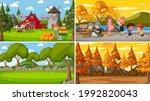 set of different nature scenes... | Shutterstock .eps vector #1992820043