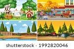 set of different nature scenes... | Shutterstock .eps vector #1992820046