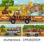 different safari scenes with... | Shutterstock .eps vector #1992820529
