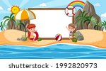 kids on vacation at the beach... | Shutterstock .eps vector #1992820973