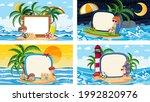 set of different tropical beach ... | Shutterstock .eps vector #1992820976