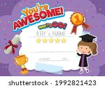 cute motivational cartoon... | Shutterstock .eps vector #1992821423