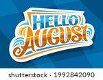 vector lettering hello august ... | Shutterstock .eps vector #1992842090