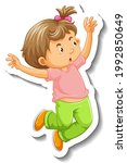 sticker template with a little... | Shutterstock .eps vector #1992850649