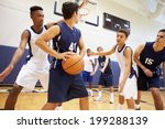 male high school basketball... | Shutterstock . vector #199288139