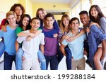 group of high school students... | Shutterstock . vector #199288184