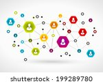 business team network  | Shutterstock .eps vector #199289780