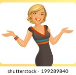 smiling woman | Shutterstock .eps vector #199289840