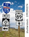 american route markers  usa | Shutterstock . vector #199290374