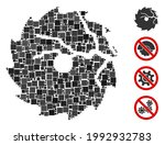 mosaic damaged circular saw... | Shutterstock .eps vector #1992932783