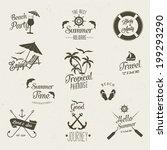 summer  vector icon  set | Shutterstock .eps vector #199293290