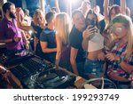 party people taking selfie | Shutterstock . vector #199293749