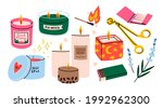 various candles. different...   Shutterstock .eps vector #1992962300