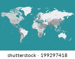 world map | Shutterstock .eps vector #199297418