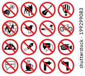 Set Of Forbidden Signs With...