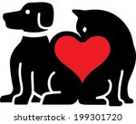 pet love | Shutterstock .eps vector #199301720