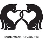 cat love | Shutterstock .eps vector #199302743