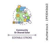 community or shared solar...   Shutterstock .eps vector #1993043663