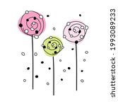 doodle sketch flower with color ...   Shutterstock .eps vector #1993089233