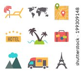travel  tourism and vacation... | Shutterstock .eps vector #199309148