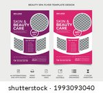 beauty and spa flyer template...   Shutterstock .eps vector #1993093040