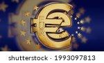 e euro golden bold letters...   Shutterstock . vector #1993097813