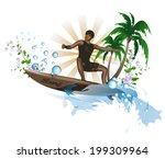 surf background | Shutterstock .eps vector #199309964
