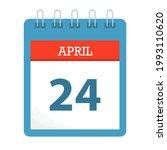 april 24   calendar icon  ... | Shutterstock .eps vector #1993110620