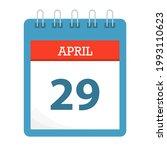 april 29   calendar icon  ... | Shutterstock .eps vector #1993110623