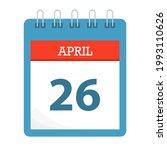 april 26   calendar icon  ... | Shutterstock .eps vector #1993110626