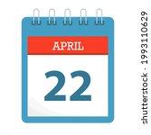 april 22   calendar icon  ... | Shutterstock .eps vector #1993110629
