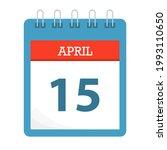 april 15   calendar icon  ... | Shutterstock .eps vector #1993110650