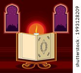 temple candle quran islamic... | Shutterstock .eps vector #1993128209