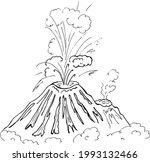 sketch volcano. landscape...   Shutterstock .eps vector #1993132466