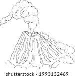 sketch volcano.  landscape...   Shutterstock .eps vector #1993132469