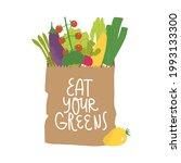 paper bag with vegetables....   Shutterstock .eps vector #1993133300