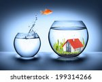 fish find house   real estate... | Shutterstock . vector #199314266