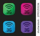 3g four color glass button icon