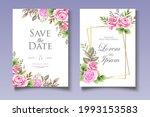 elegant wedding card with...   Shutterstock .eps vector #1993153583