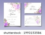 elegant wedding card with...   Shutterstock .eps vector #1993153586
