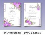 elegant wedding card with...   Shutterstock .eps vector #1993153589