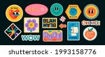 set of various patches  pins ... | Shutterstock .eps vector #1993158776