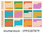 calendar 2022  organizer...   Shutterstock .eps vector #1993187879