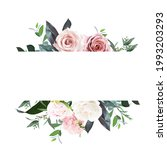 dusty pink and cream rose ... | Shutterstock .eps vector #1993203293