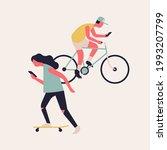 heavy screen and social media... | Shutterstock .eps vector #1993207799