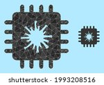 low poly infected chip icon on...   Shutterstock .eps vector #1993208516