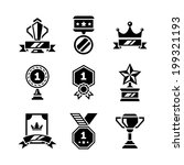 set icons of awards and trophy... | Shutterstock .eps vector #199321193