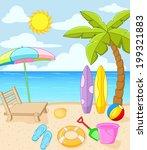 tropical beach | Shutterstock . vector #199321883